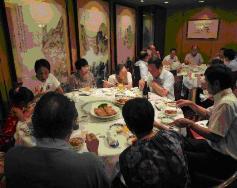 重慶飯店にて