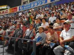 横浜スタジアムで応援